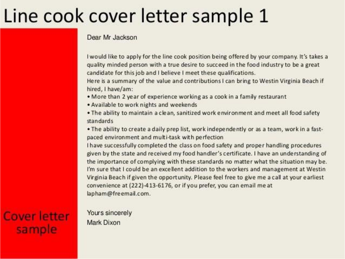 Basic line cook cover letter samples and templates basic line cook cover letter previous page madrichimfo Image collections
