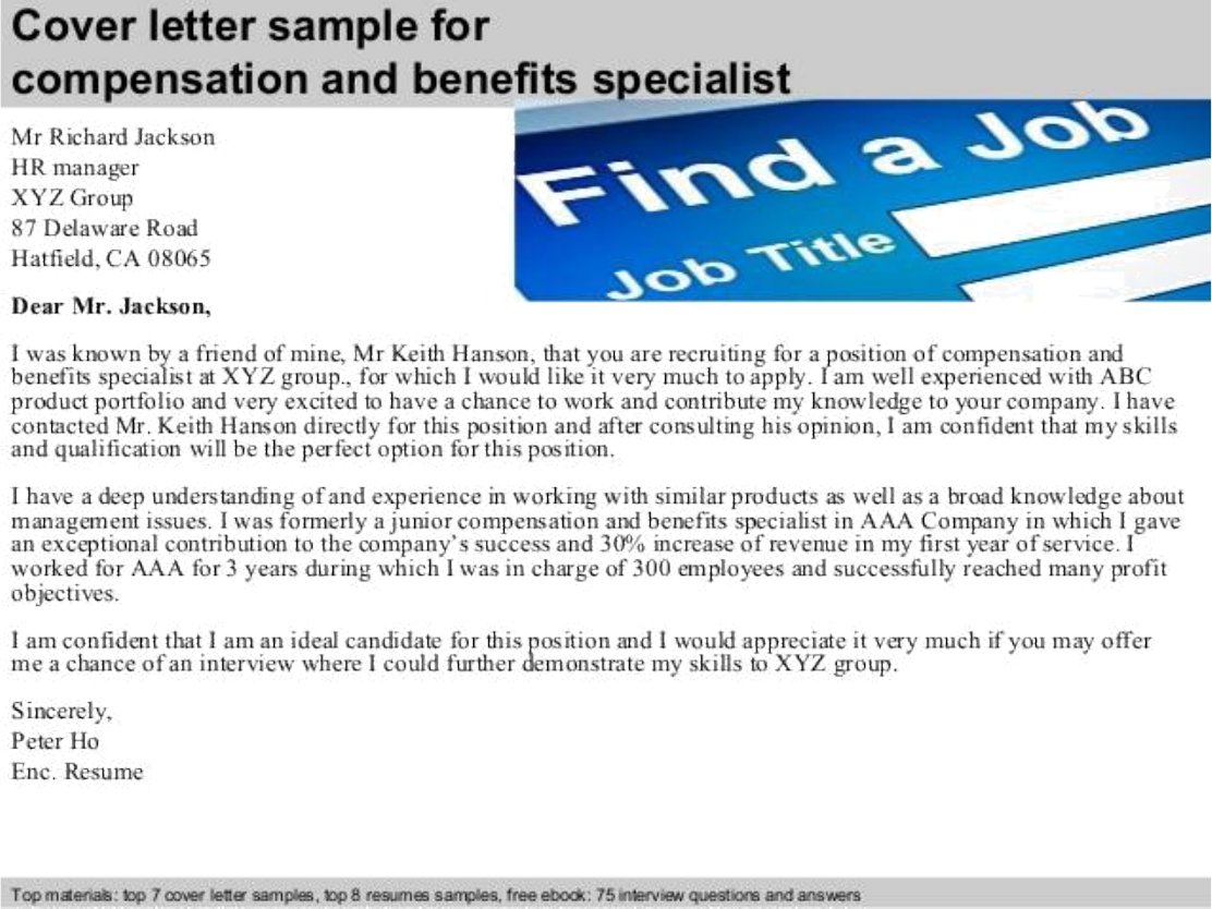 compensation letter sample - Workers Compensation Specialist Sample Resume