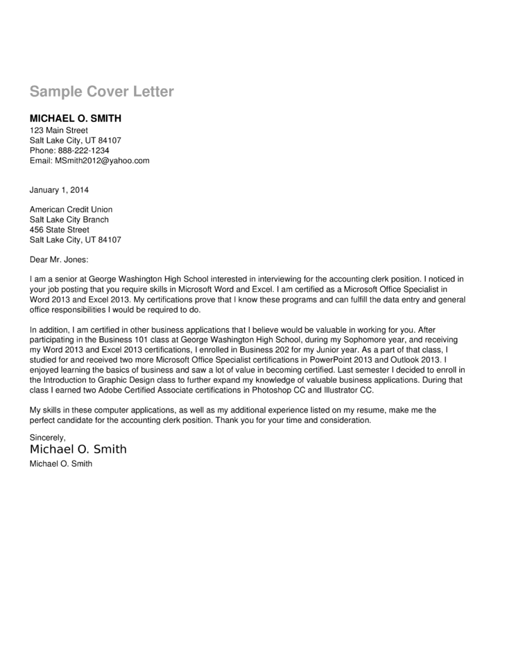 Accounts Payable Clerk Cover Letter Samples And Templates