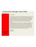 Basic Construction Manager Cover Letter