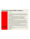 Basic Electrician Cover Letter
