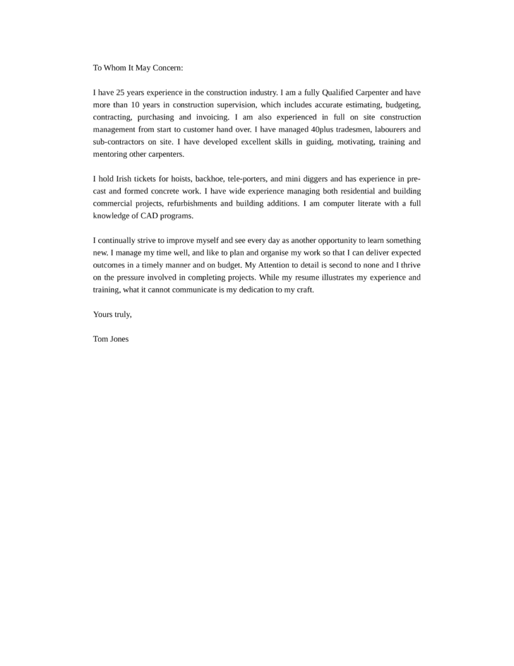 basic engineering manager cover letter - Construction Management Cover Letter Examples