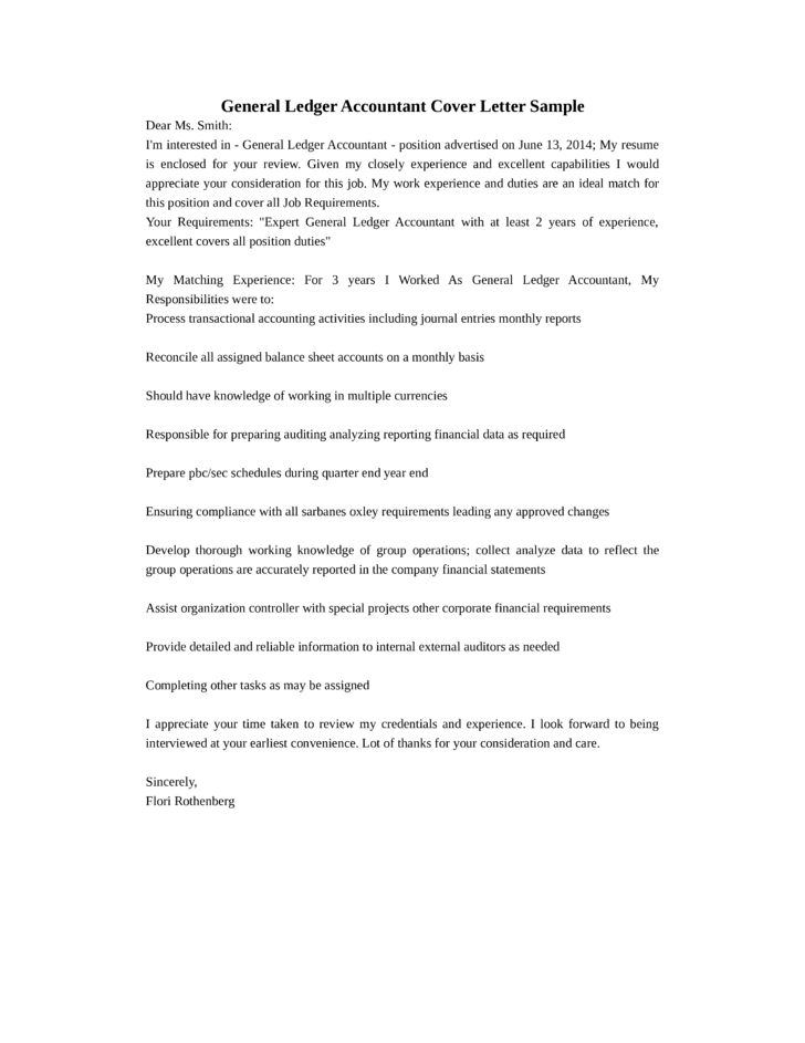 cover letter for financial accountant job application - basic general ledger accountant cover letter samples and