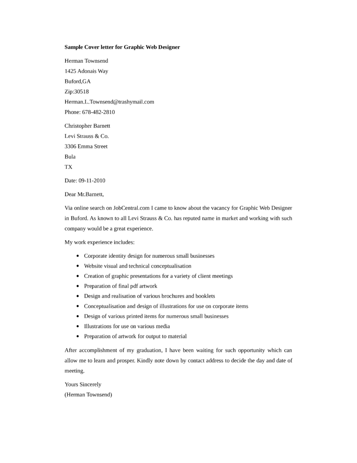 basic graphic web designer cover letter - Cover Letter For Web Designer