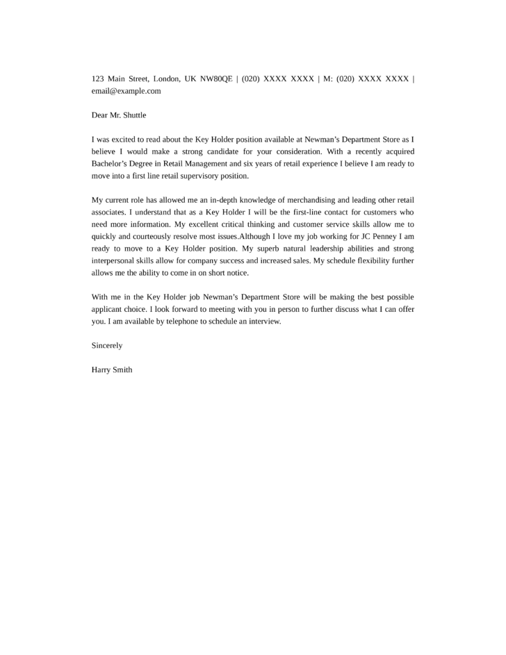Simple Cover Letter Templates