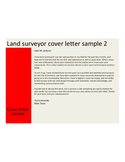 Basic Land Surveyor Cover Letter