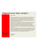 Basic Lifeguard Cover Letter
