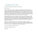 Basic Nuclear Medicine Technologist Cover Letter