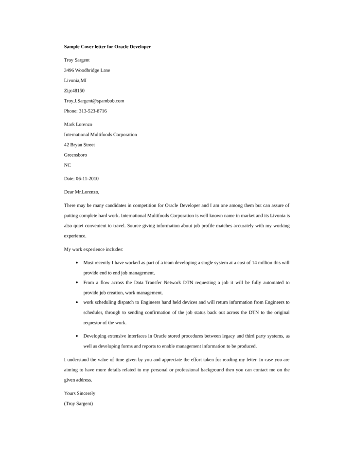 cover letter for application developer While it is not as long, a cover letter requires the same attention as preparing a curriculum vitae or resume  how to write a winning cover letter.