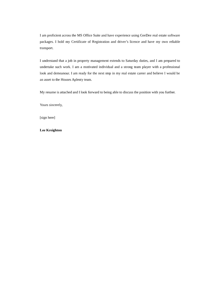 basic property manager cover letter page2