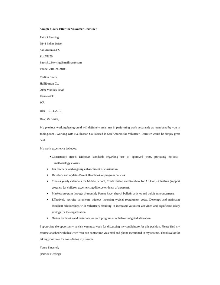 how to write a cover letter to a recruiter Sample cover letters - recruiters : sample cover letters to recruiters sample letter r01 see fill-in-the-blank letter used to create this sample letter.