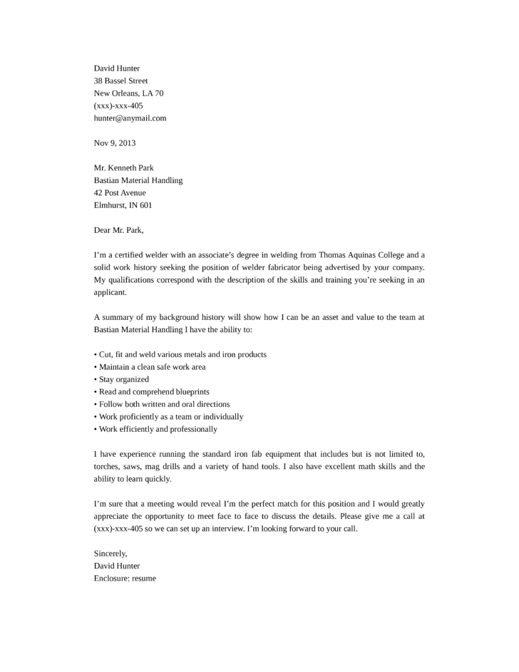 Cover Letter For Welding Job. Australia Cover Letter Jianbochen Sample  Letters ...