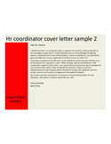 Brilliant HR Coordinator Cover Letter