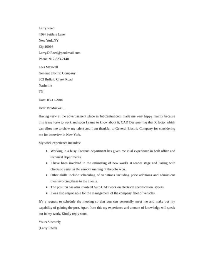 ... Job Application Letter For It Technician A Good Application Or Cover  Letter Is Always Desirable For ...