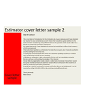 2 estimator cover letter samples and templates free download