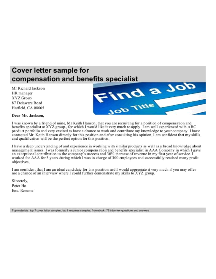 hr generalist cover letter template ideas 8 formal