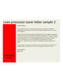 Loan Processing Officer Cover Letter