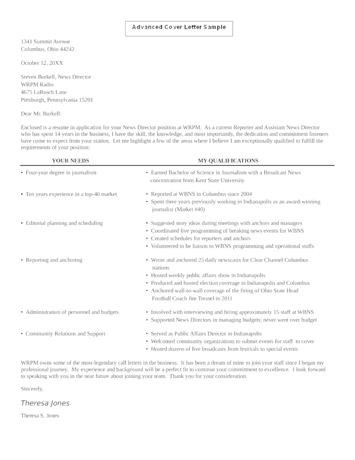 Assistant News Director Cover Letter News Director Cover Letter