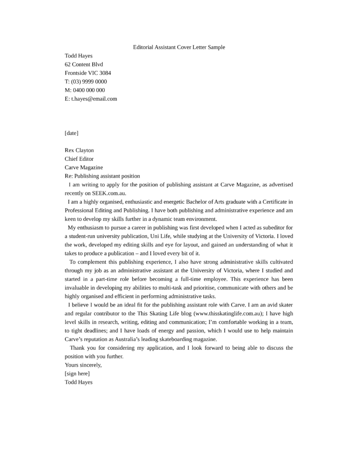 how to write a dynamic cover letter - publishing assistant cover letter samples and templates