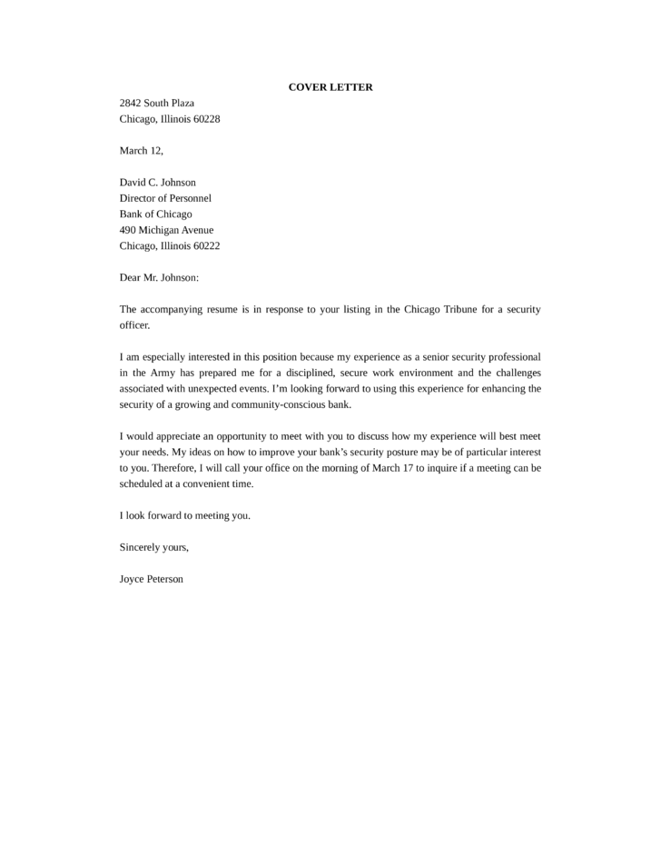 Leading Professional Security Officer Cover Letter Examples. Top ...