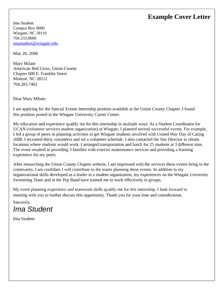 Special event coordinator cover letter samples and templates for International student coordinator cover letter